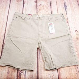 Khaki Athletic Fit Shorts